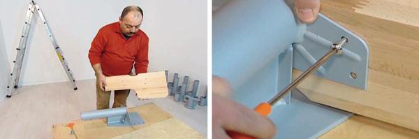 Installazione gradini scale in kit