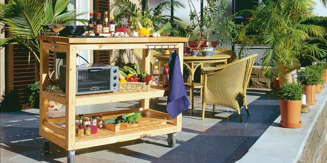 Come costruire una cucina in legno per giardino con ruote facile ...