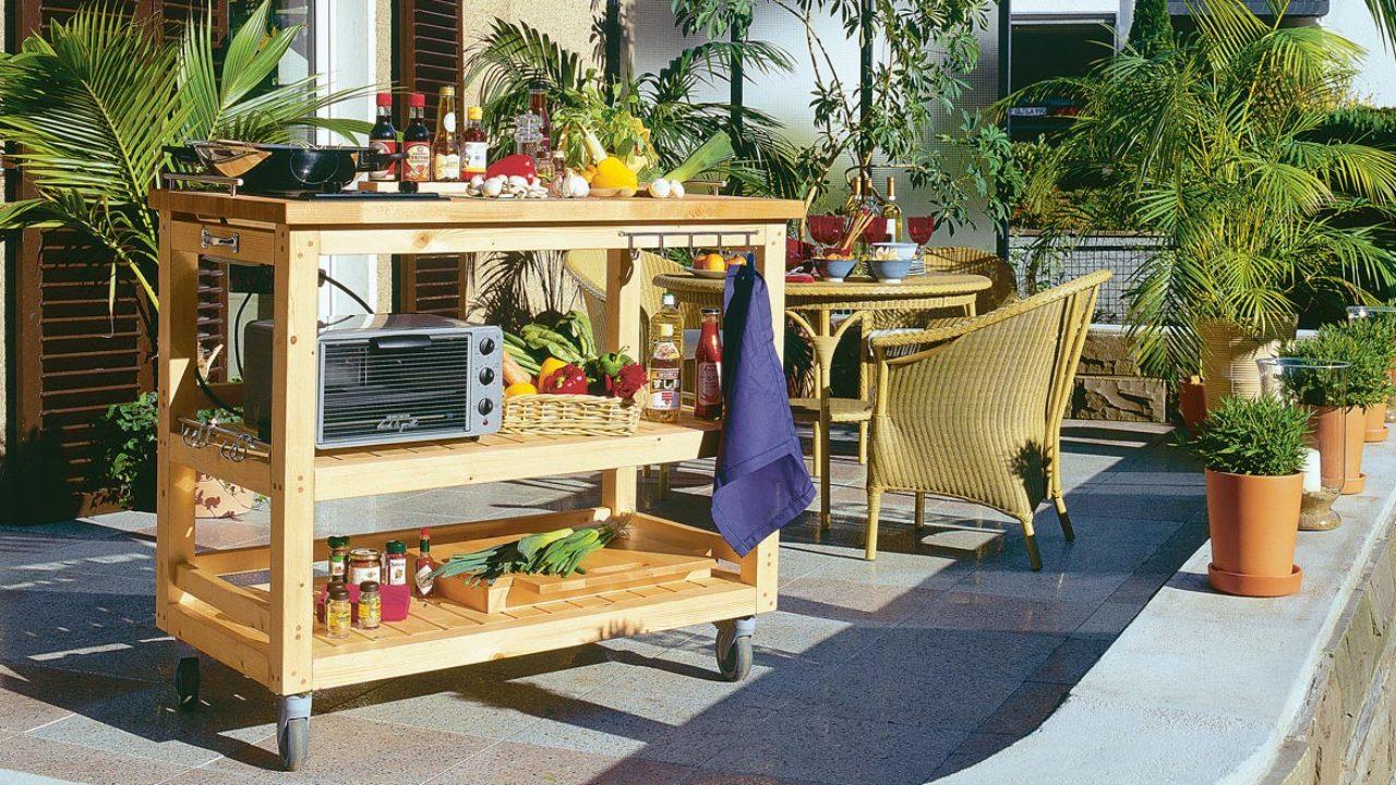 Con In Legno Cucina Come Costruire Ruote Facile Una Giardino ...