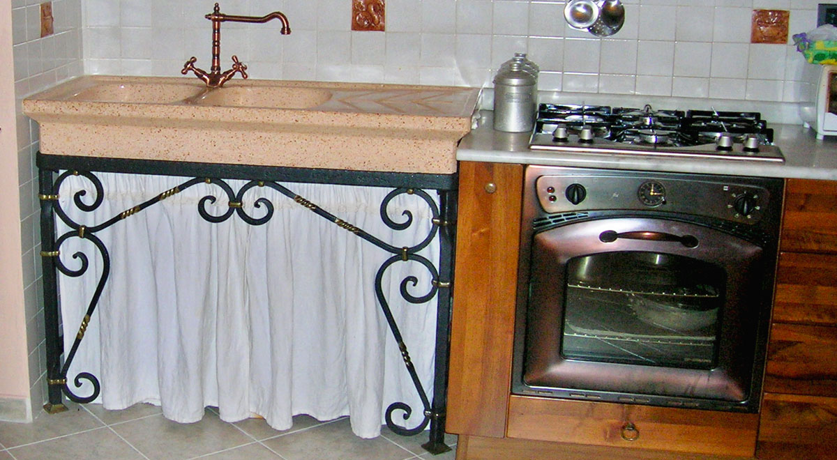 Mobile sottolavello fai da te in ferro battuto guida alla realizzazione - Mobile sottolavello cucina ...