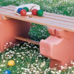 Panca da giardino fai da te in gasbeton
