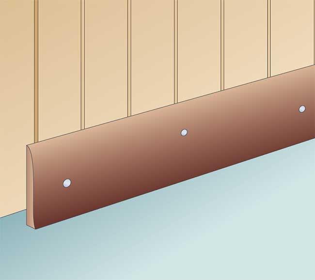 Battiscopa tipologie posa fai da te e modelli speciali for Disegni da applicare alle pareti