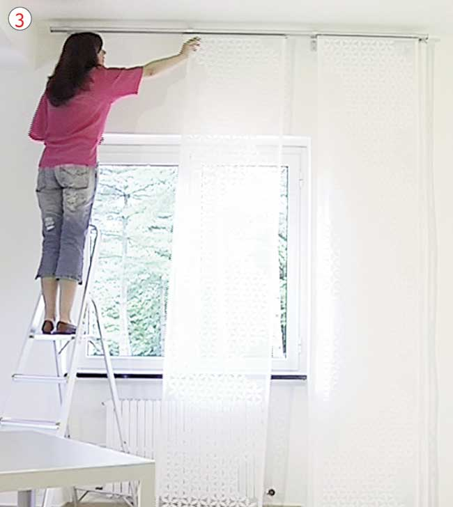 Tende a pannello scorrevoli come installarle fai da te - Pannelli decorativi fai da te ...
