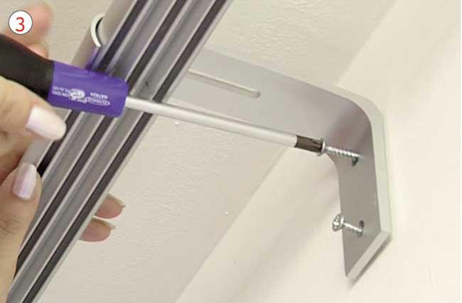 Binari Tende A Soffitto : Tende a pannello scorrevoli come installarle fai da te