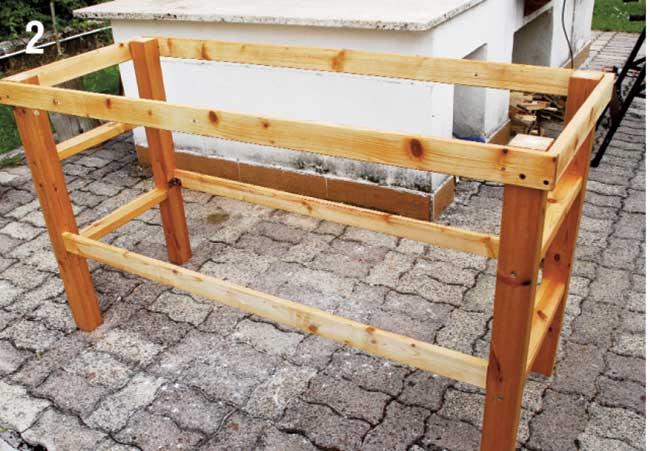 Banco da lavoro fai da te in legno come costruirlo senza incastri - Banco da lavoro cucina legno ...