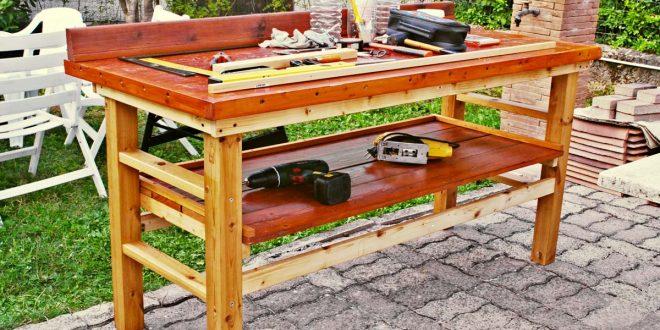 Banco da lavoro fai da te in legno come costruirlo senza - Pitturare legno senza carteggiare ...