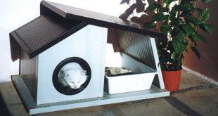 Fai da te costruzioni e riparazioni illustrate passo passo - Cuccia per gatti da esterno fai da te ...