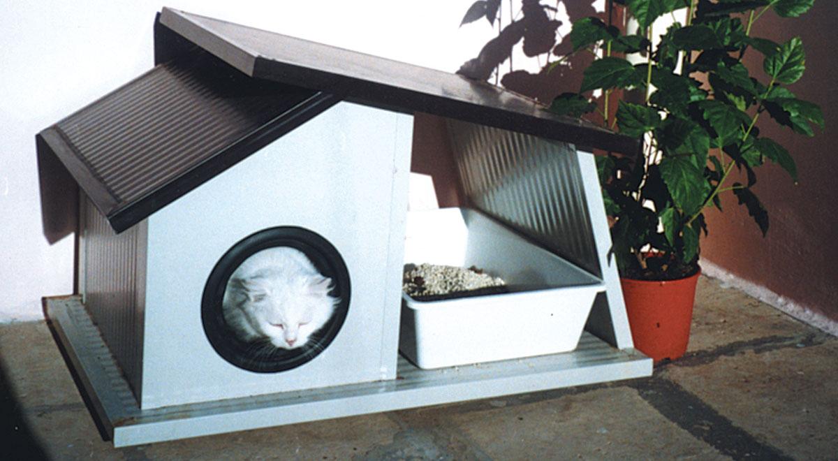 Cuccia per gatti da esterno fai da te costruirla con for Cucce per gatti da esterno riscaldate