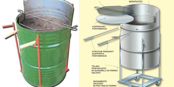 Barbecue artigianali come ricavarli da fusti metallici for Barbecue in muratura fai da te