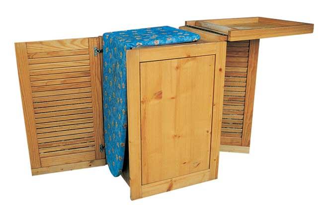 Mobile da stiro fai da te come realizzarlo in legno d 39 abete for Mobile da stiro