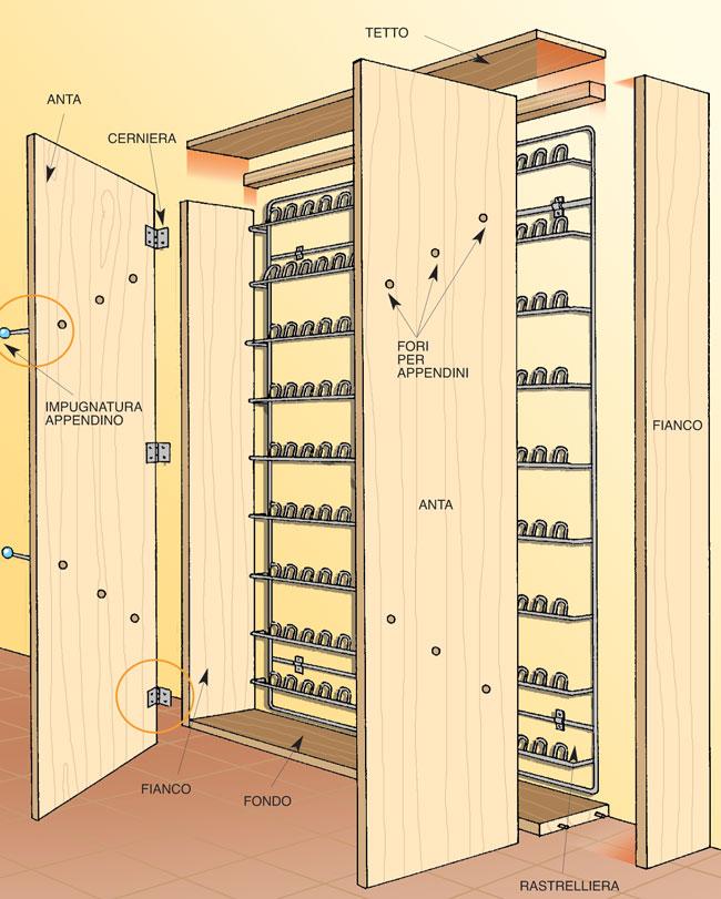 Armadio portascarpe fai da te bricoportale fai da te e - Porta cabina armadio fai da te ...