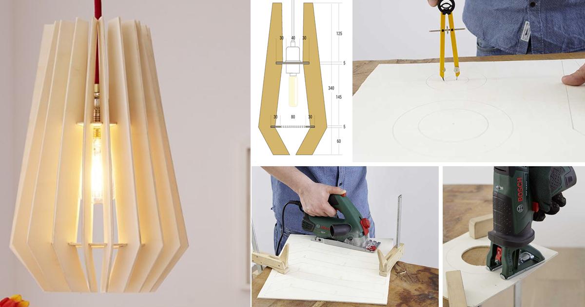 Lampada in legno fai da te guida alla costruzione for Coprilavatrice legno fai da te