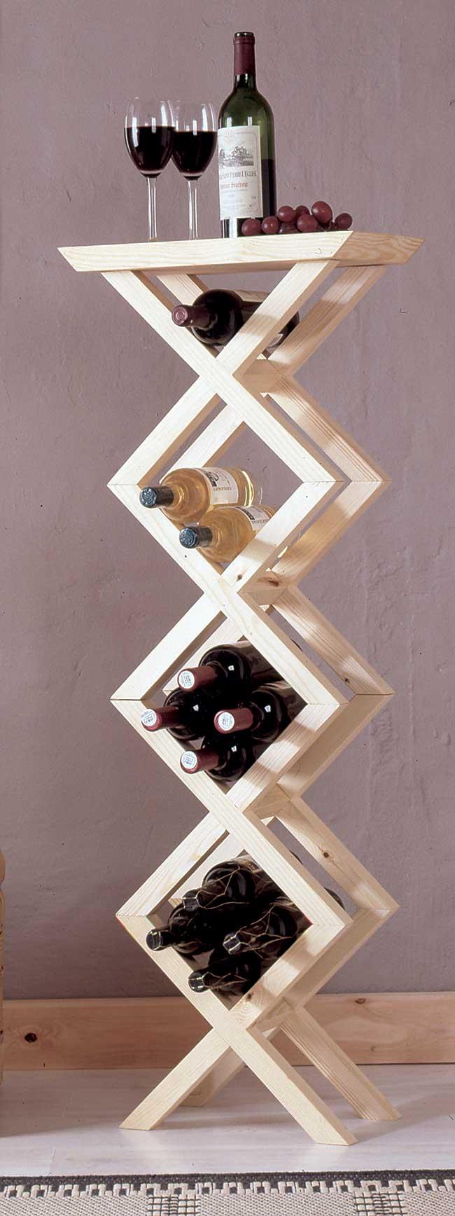 Portabottiglie fai da te modulare guida alla costruzione for Porta vino fai da te