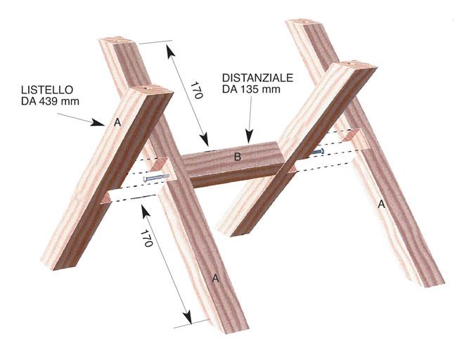 Portabottiglie fai da te modulare guida alla costruzione - Porta vino legno ...