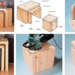 Sgabelli in legno fai da te salvaspazio