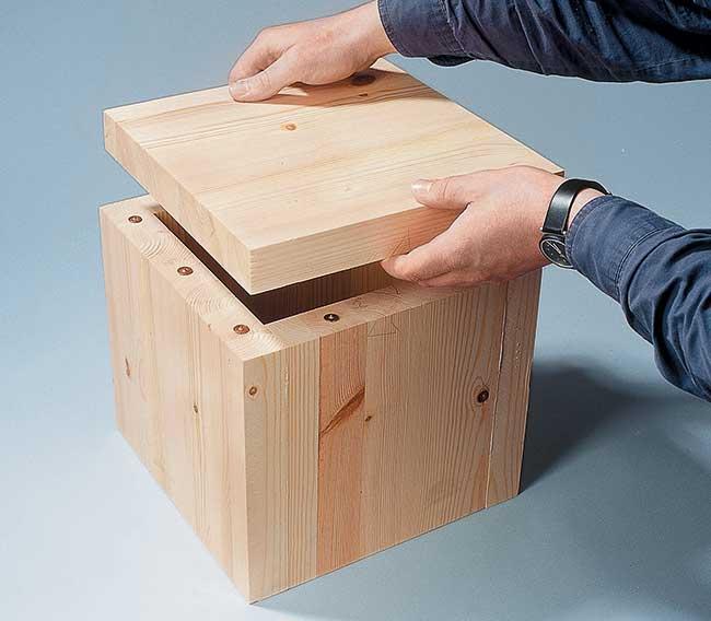 Sgabelli in legno fai da te salvaspazio bricoportale for Bancone in legno fai da te