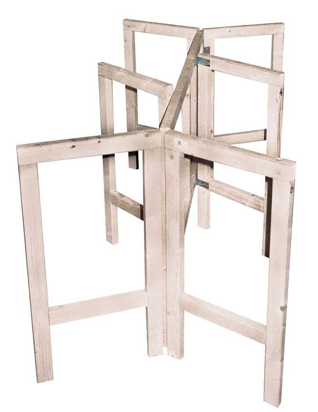 Tavolo pieghevole autocostruito in legno for Gambe pieghevoli per tavoli fai da te