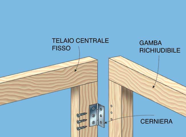 Tavolo pieghevole autocostruito in legno for Tavolo in legno pieghevole