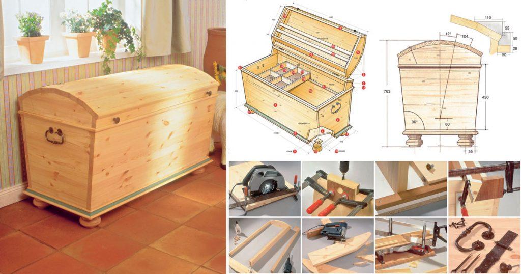 Baule fai da te come costruirlo in legno d 39 abete - Costruire mobili in legno fai da te ...