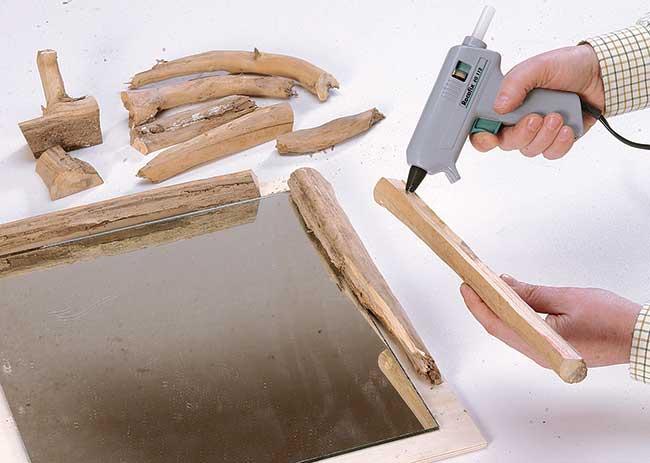 Cornice di legno fai da te con rami bricoportale fai da - Rami decorativi legno ...
