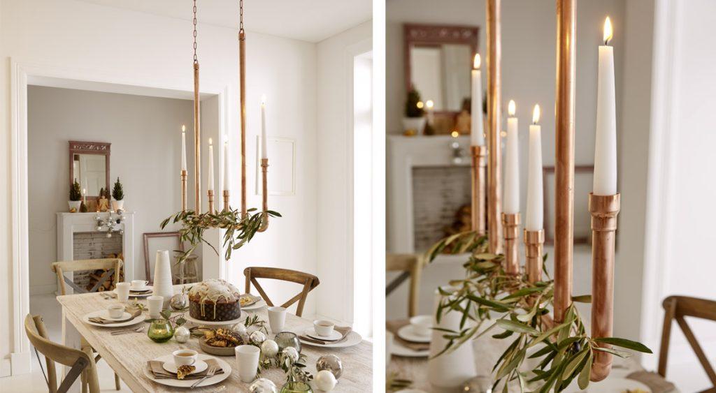Portacandele fai da te come realizzare un candelabro - Portacandele da tavolo ...