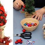 Albero di Natale piccolo in stile bonsai | Come si realizza