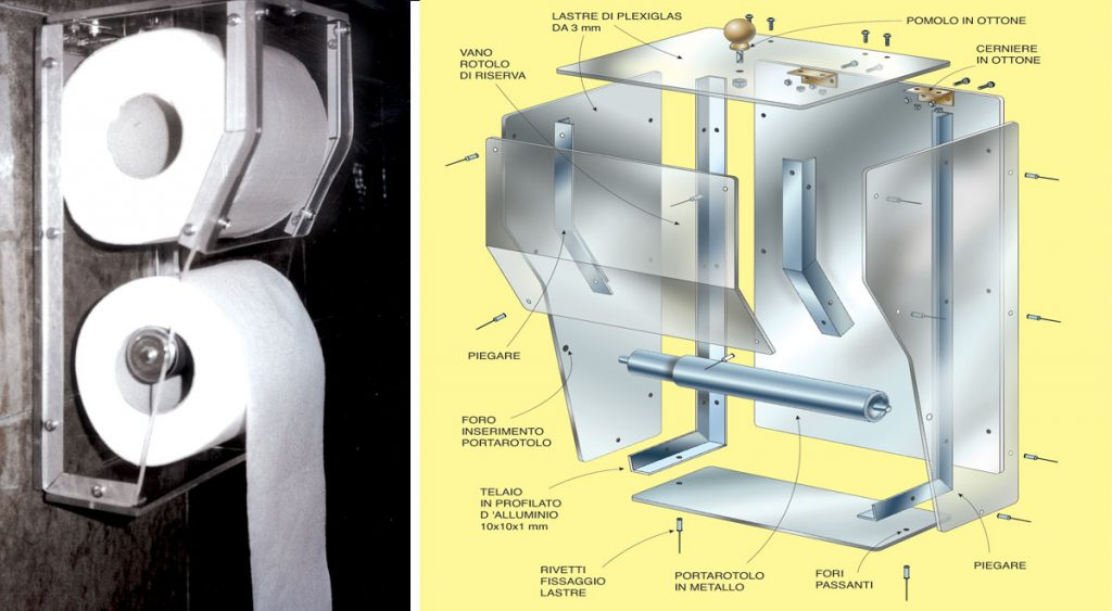 Porta carta igienica fai da te da muro in alluminio e - Albero porta carta igienica ...