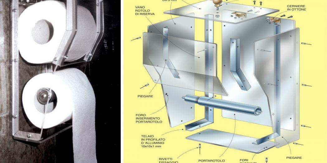 Porta carta igienica fai da te da muro in alluminio e plexiglas - Albero porta carta igienica ...