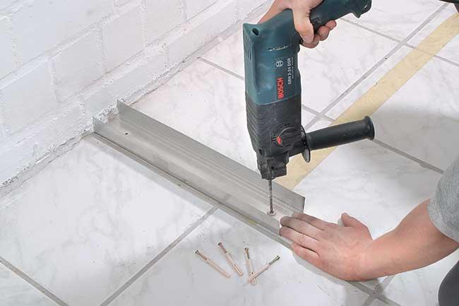 foratura telaio alluminio cartongesso