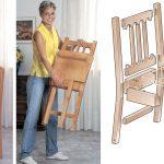 Come costruire una sedia pieghevole in legno massello