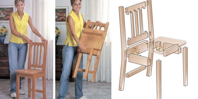Come costruire una sedia pieghevole in legno massello for Decorare sedia legno