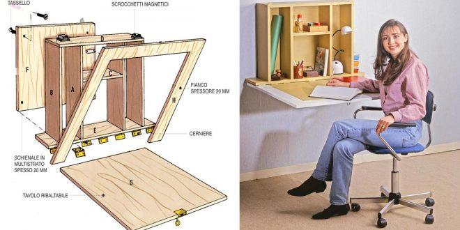 Tavolino a ribalta fai da te in legno multistrato come costruirlo - Tavolo a muro fai da te ...