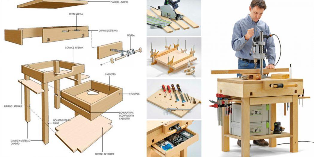 Come si costruisce un tavolo da lavoro in legno 12 - Tavolo da lavoro fai da te ...