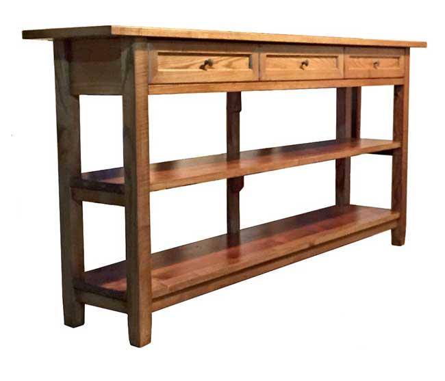 consolle fai da te in legno per la cucina come si