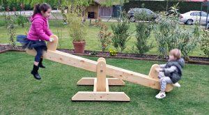Altalena basculante fai da te in legno