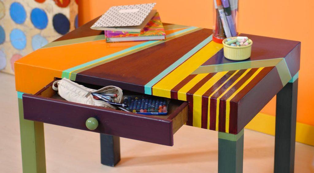 Credenza Da Verniciare : Come verniciare un tavolo di legno in modo creativo bricoportale