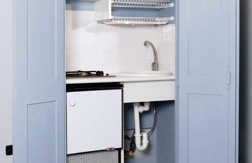 Cucina nascosta in un armadio costruzione fai da te dettagliata - Cucina nascosta ...