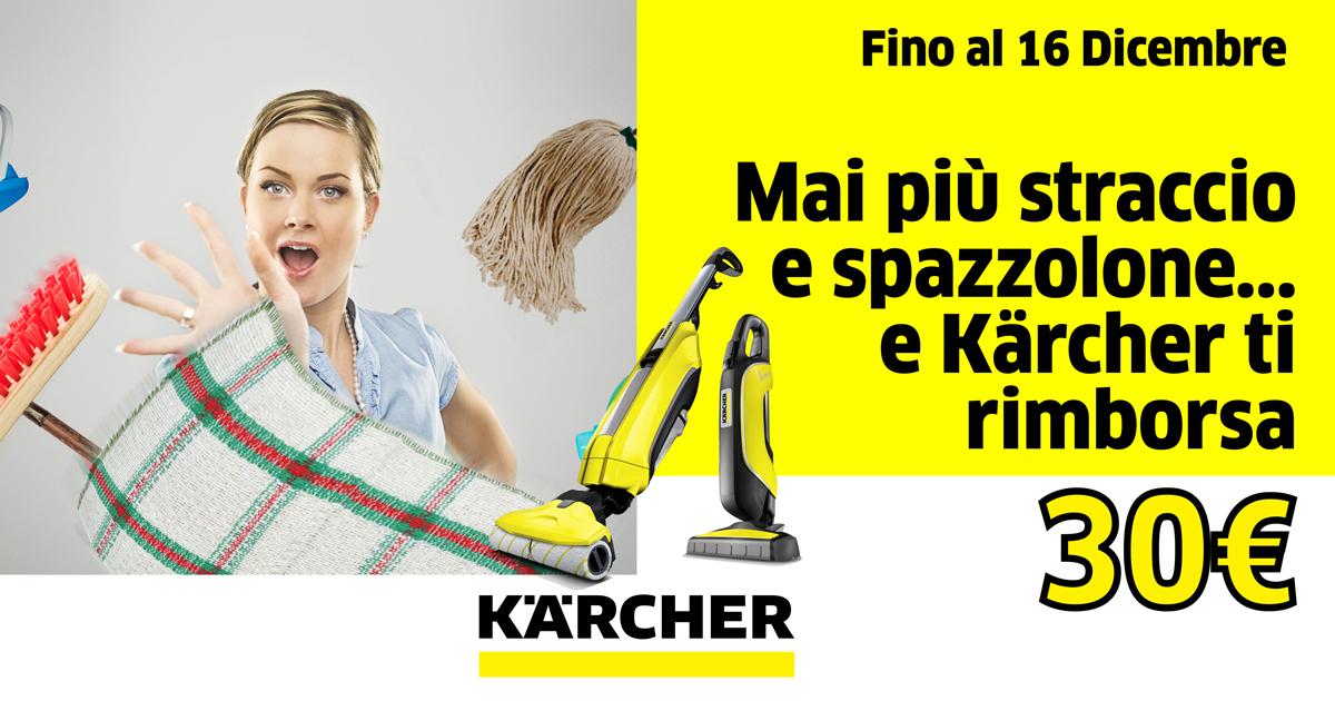 Promozione Kärcher: fino al 16 dicembre, 30€ di vantaggi!