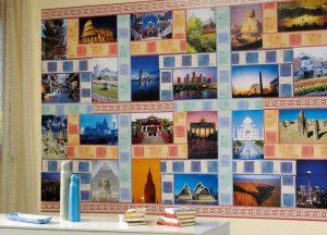 Collage foto fai da te | Le foto ricordo al muro