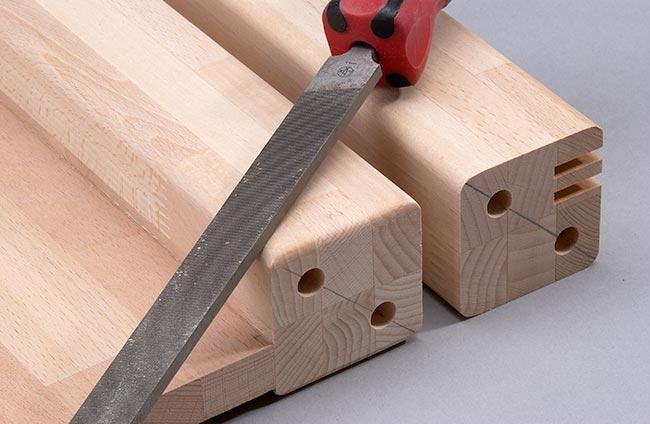 smussatura con lima per legno