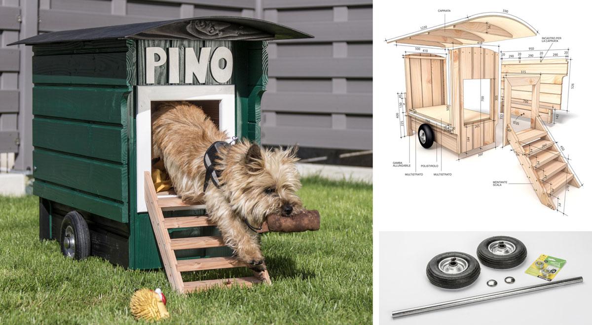 Cuccia per cani fai da te con ruote | Costruiscila e spostala dove vuoi!
