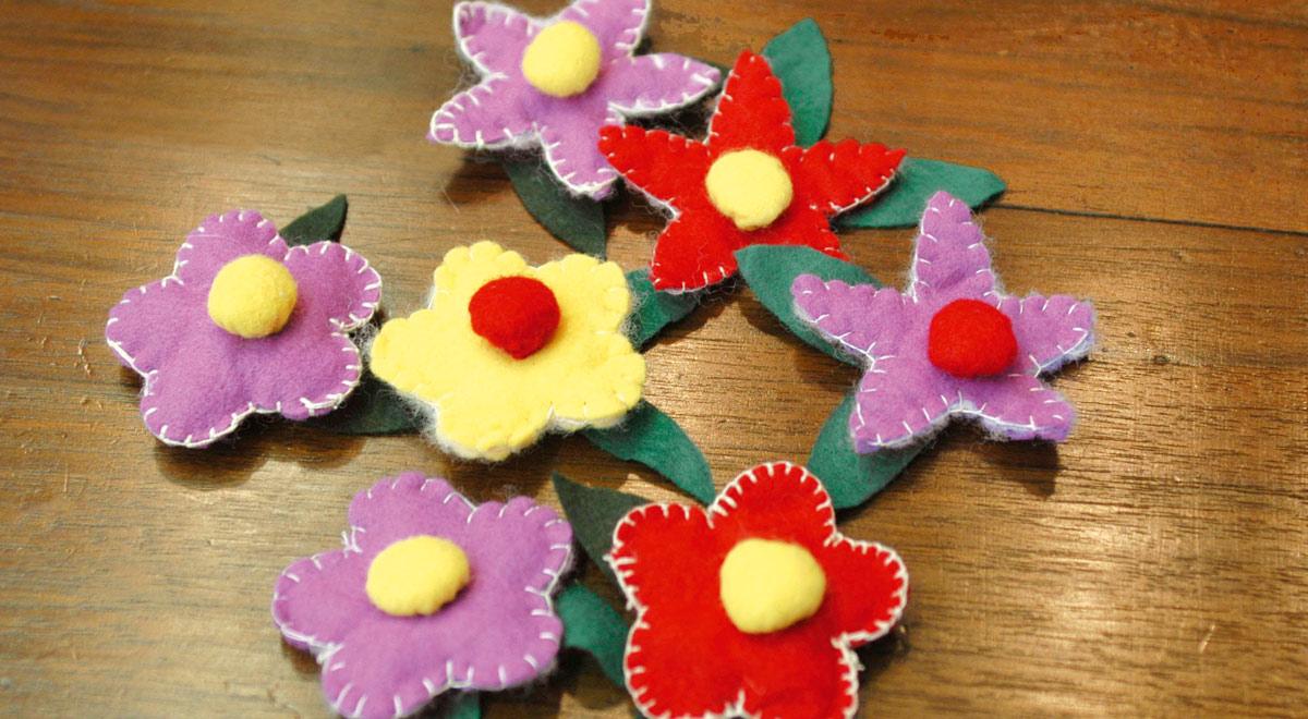 Pannolenci | Come realizzare decorazioni a forma di fiore