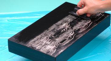 pittura effetto legno