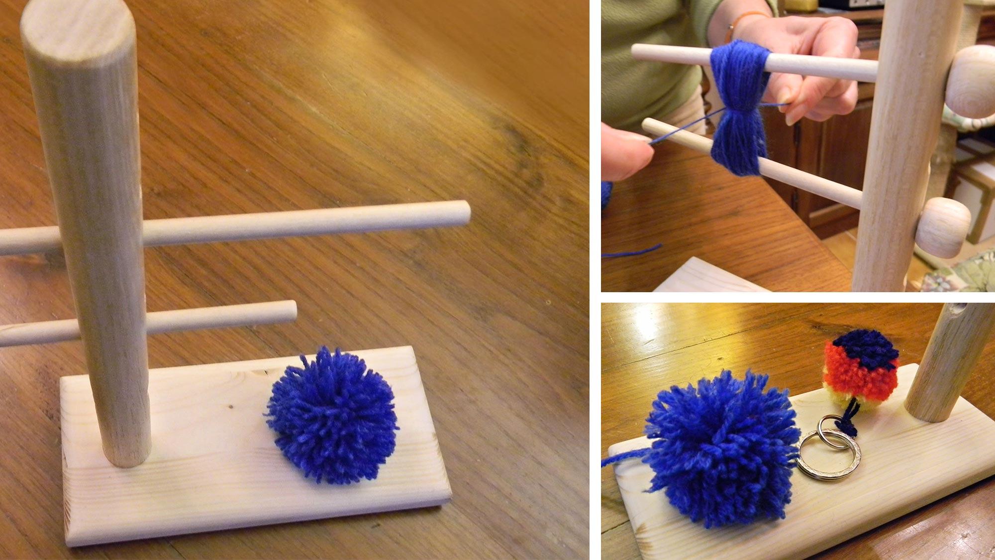 Pon pon di lana e un telaio in legno per realizzarli | Guida illustrata
