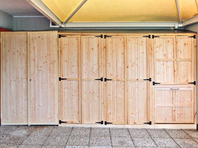 armadio da esterno legno