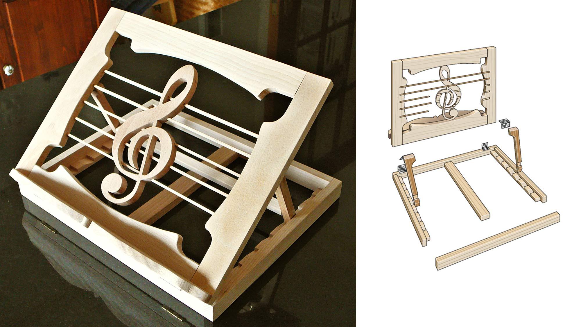 Leggio da tavolo fai da te | Ecco come costruirlo in legno