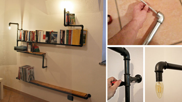 Costruire Mensole Per Libreria A Muro.Libreria Originale Con Tubi Idraulici Guida Alla Realizzazione