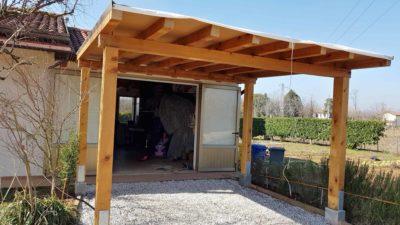 tettoia in legno fai da te