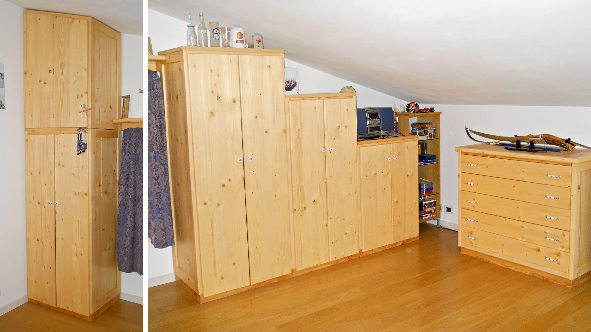 Armadiature Per Esterni mobili per mansarda in legno | costruzione fai da te