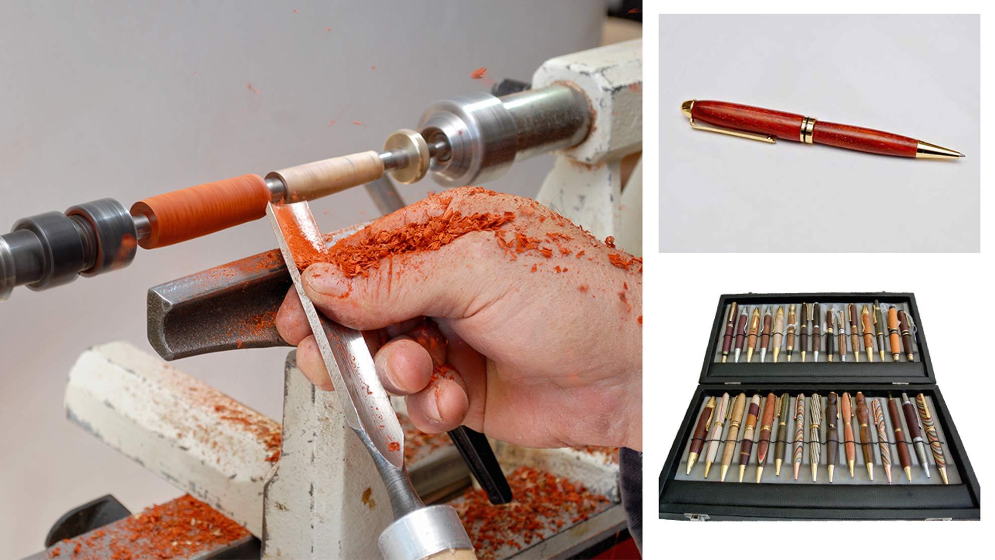 Penne in legno fai da te | Realizzazione al tornio